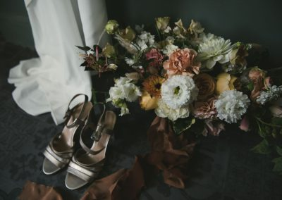 Shoes flowers and dress